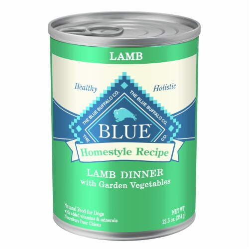 Blue Buffalo Lamb Dinner Homestyle Recipe Natural Dog Food Perspective: front
