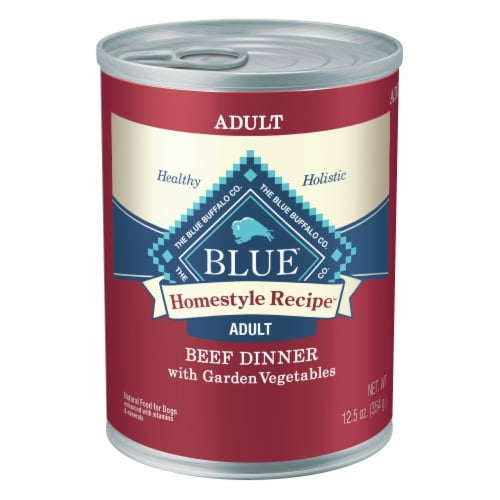 Blue Buffalo Beef Dinner Homestyle Recipe Natural Wet Dog Food Perspective: front