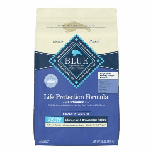 Blue Buffalo Life Protection Formula Healthy Weight Large Breed Adult Dry Dog Food Perspective: front