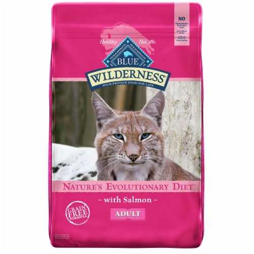 Blue Wilderness Nature's Evolutionary Diet with Salmon Adult Dry Cat Food Perspective: front
