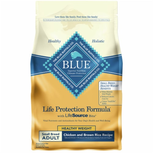 Blue Buffalo Life Protection Formula Healthy Weight Small Breed Adult Dry Dog Food Perspective: front