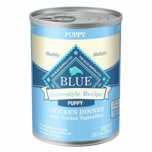 Blue Buffalo Homestyle Recipe Chicken Dinner with Garden Vegetables Wet Puppy Food Perspective: front