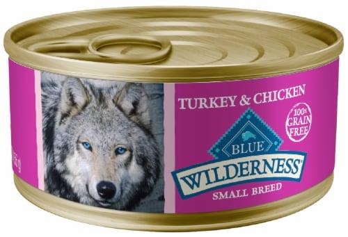 Blue Wilderness Grain-Free Turkey & Chicken Small Breed Wet Dog Food Perspective: front