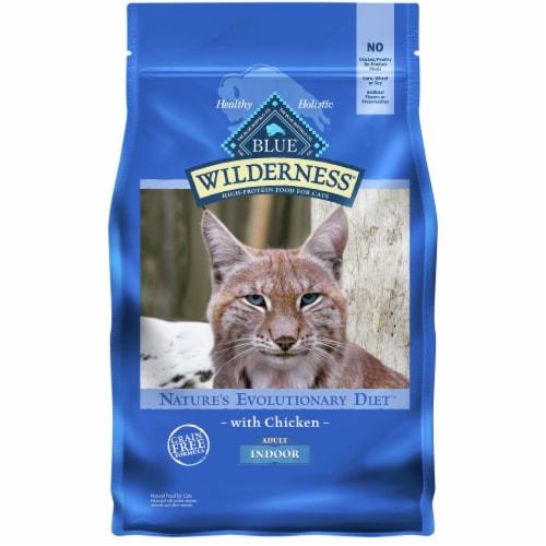 Blue Wilderness Chicken Indoor Adult Dry Cat Food Perspective: front