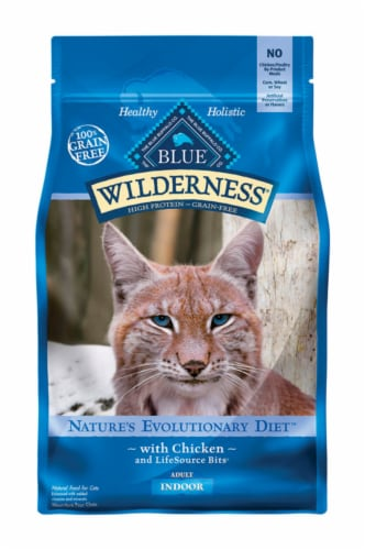 Blue Buffalo Blue Wilderness Indoor Chicken Dry Cat Food Grain Free 5 lb. - Case Of: 1; Perspective: front