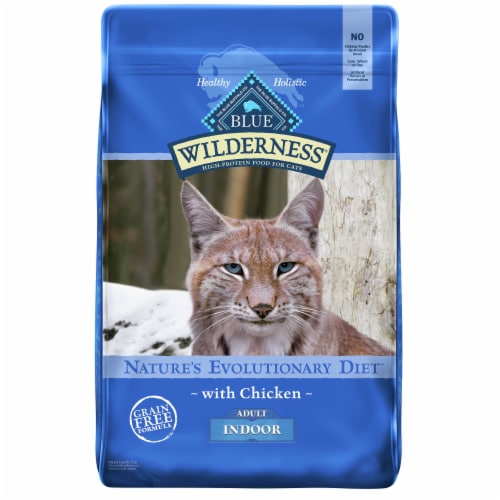 Blue Wilderness High Protein Chicken Natural Adult Indoor Dry Cat Food Perspective: front