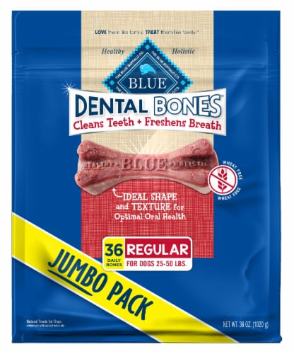 Blue Buffalo Regular Dog Dental Bones Perspective: front