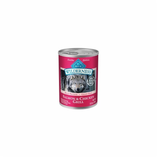 Animal Supply Company BB11293 Wilderness High Protein Wet Adult Dog Food - Salmon And Chicken Perspective: front