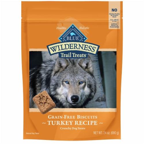 Blue Wilderness Crunchy Grain-Free Turkey Dog Treats Perspective: front