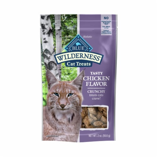 Blue Wilderness Chicken Flavor Crunchy Cat Treats Perspective: front