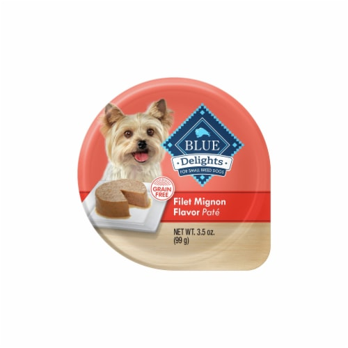 Blue Buffalo Delights Filet Mignon Flavor Pate Small Breed Dog Food Perspective: front
