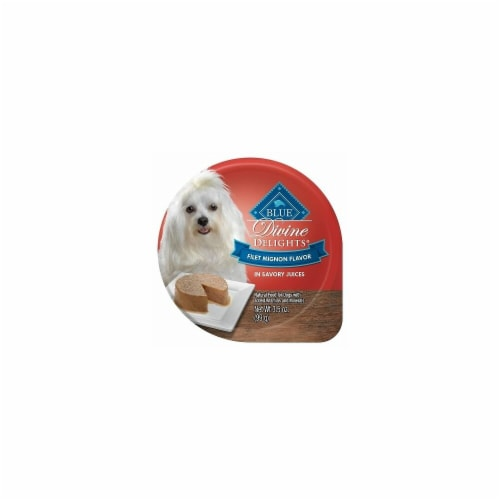 Blue Buffalo 596622 3.5 oz Divine Delights Pate Filet Mignon Dog Food - Pack of 12 Perspective: front