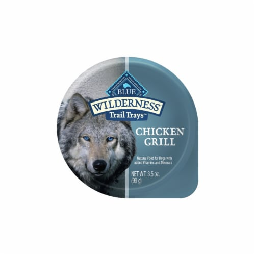 Blue Wilderness Chicken Grill Trail Trays Wet Dog Food Perspective: front