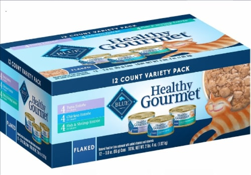 Blue Buffalo Healthy Gourmet Flaked Wet Cat Food Variety Pack Perspective: front