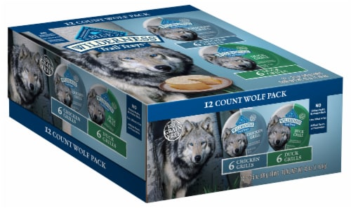 Blue Wilderness Duck And Chicken Wet Dog Food Variety Pack Perspective: front