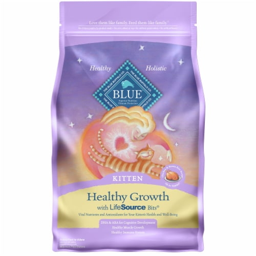 Blue Buffalo Healthy Growth Chicken & Brown Rice Dry Kitten Food Perspective: front