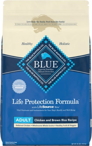 Blue Buffalo Life Protection Formula Chicken & Brown Rice Dry Adult Dog Food Perspective: front