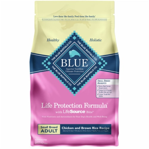 Blue Buffalo Life Protection Formula Chicken and Brown Rice Small Breed Adult Dry Dog Food Perspective: front