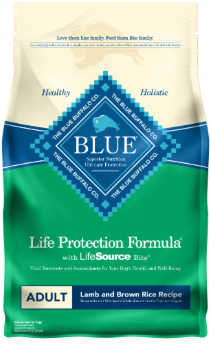 Blue Buffalo Life Protection Formula Lamb and Brown Rice Adult Dry Dog Food Perspective: front