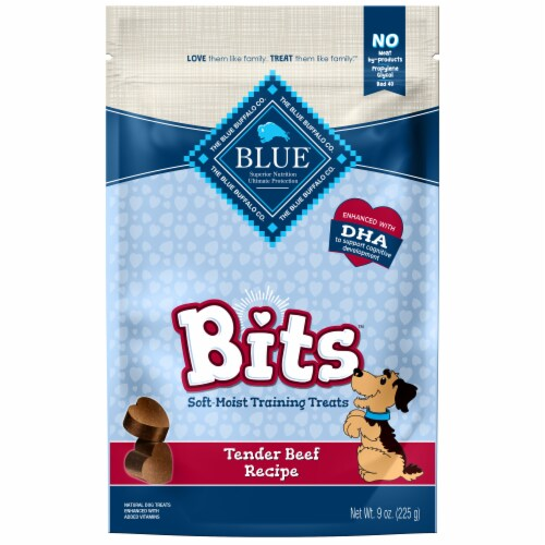 Blue Buffalo Blue Bits Natural Tender Beef Recipe Soft-Moist Training Treats Perspective: front