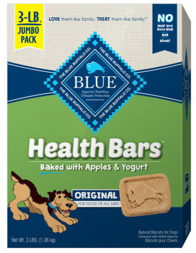 Blue Buffalo Apples & Yogurt Health Bar Dog Biscuits Perspective: front