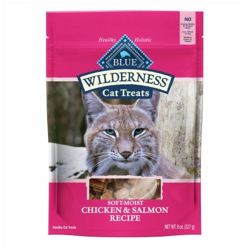 Blue Buffalo Wilderness Chicken & Salmon Recipe Soft Moist Cat Treats Perspective: front
