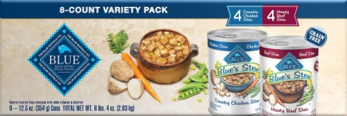 Blue Buffalo Country Chicken Stew & Hearty Beef Stew Variety Pack Wet Dog Food Perspective: front