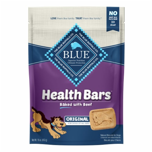 Blue Buffalo Health Bars Original Biscuit Dog Treats Perspective: front