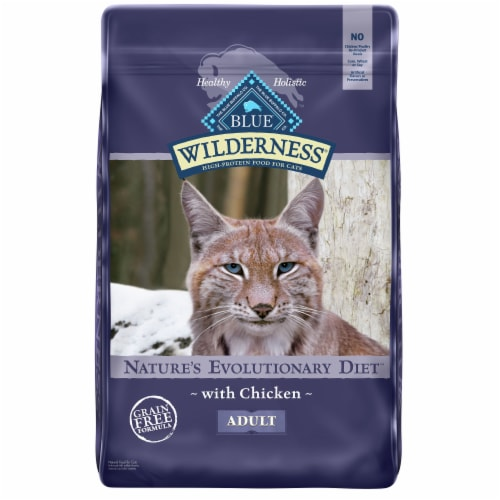 Blue Wilderness High Protein Chicken Natural Adult Dry Cat Food Perspective: front