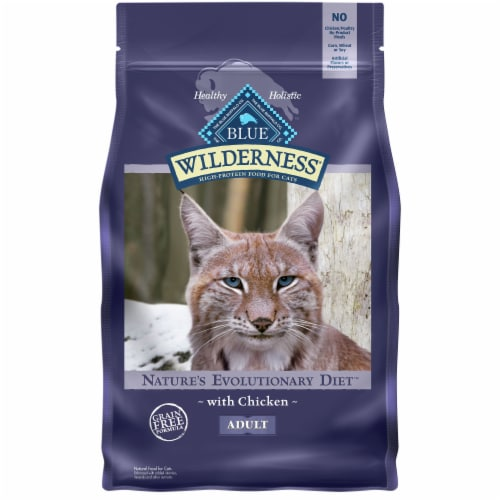 Blue Wilderness Nature's Evolutionary Diet Chicken Adult Dry Cat Food Perspective: front