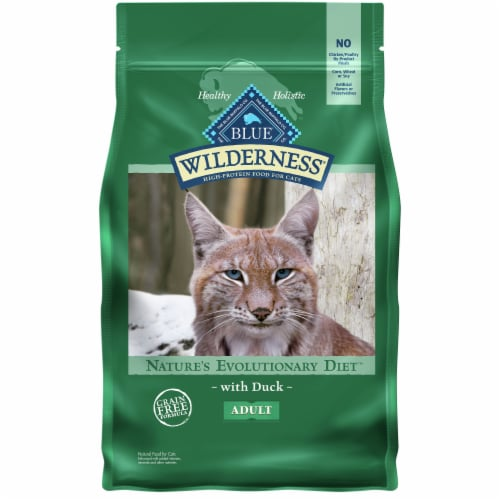 Blue Wilderness Nature's Evolutionary Diet Duck Adult Dry Cat Food Perspective: front