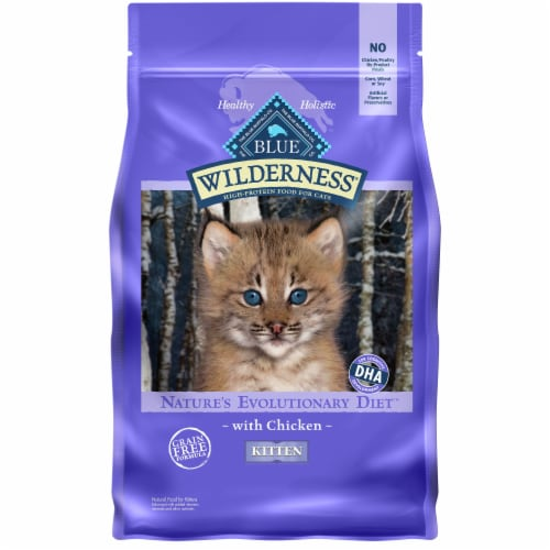 Blue Wilderness Natures Evolutionary Diet Chicken Dry Kitten Food Perspective: front