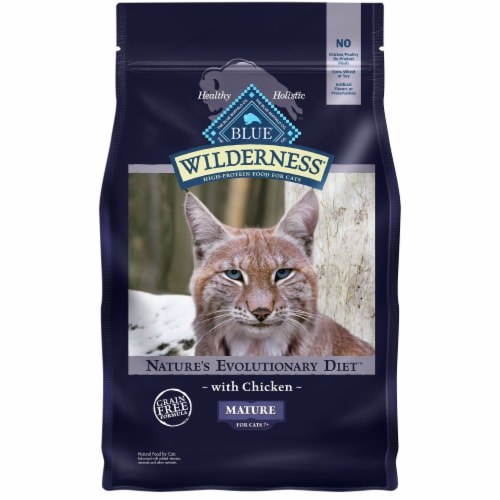 Blue Wilderness Nature's Evolutionary Diet Chicken Mature Dry Cat Food Perspective: front