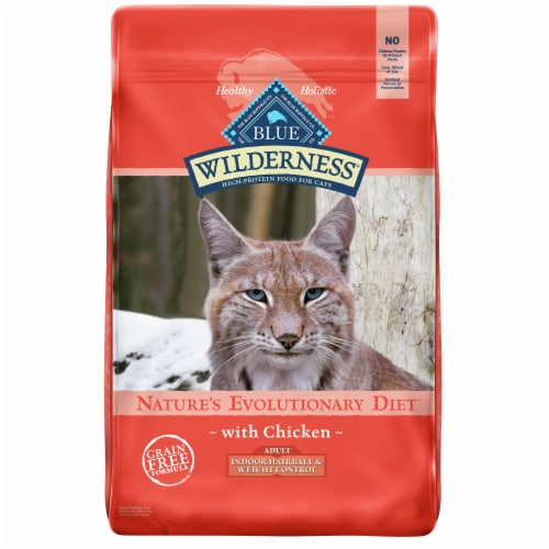 Blue Buffalo Wilderness Chicken Indoor Hairball & Weight Control Adult Dry Cat Food Perspective: front