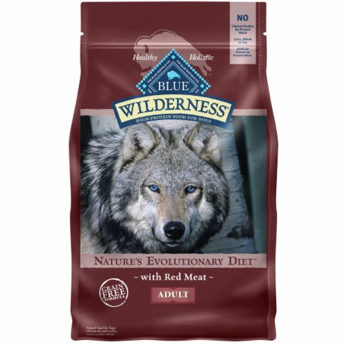 Blue Wilderness Red Meat Dry Adult Dog Food Perspective: front