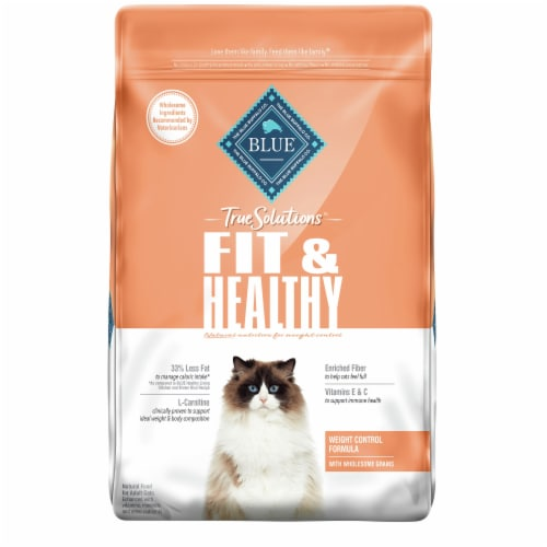 Blue Buffalo True Solutions™ Fit & Healthy Weight Control Formula Adult Dry Cat Food Perspective: front