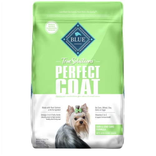 Blue Buffalo True Solutions Perfect Coat Skin & Coat Care Formula Dog Food Perspective: front