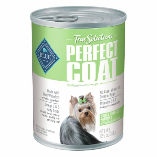 Blue Buffalo True Solutions Perfect Coat Natural Wet Dog Food Perspective: front