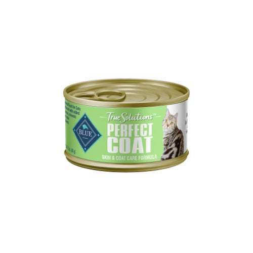 Blue Buffalo True Solutions Perfect Coat Whitefish Adult Wet Cat Food Perspective: front