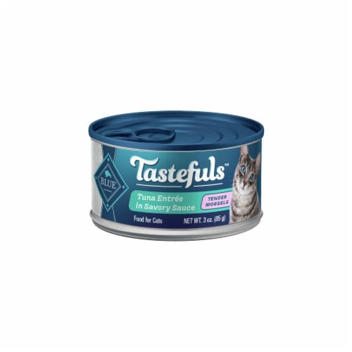 Blue Buffalo Tastefuls Tuna Entree in Savory Sauce Tender Morsels Wet Cat Food Perspective: front