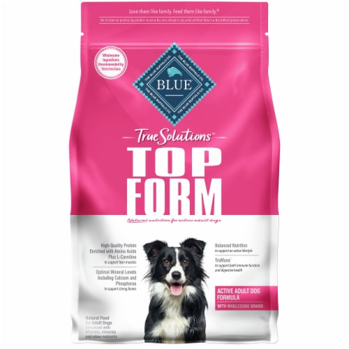 Blue Buffalo True Solutions Top Form Active Adult Dog Food Perspective: front