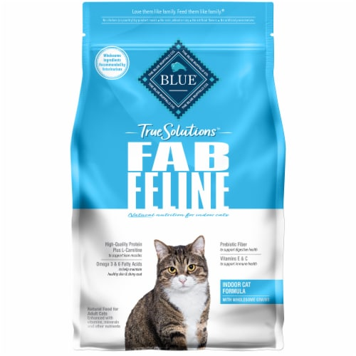 Blue Buffalo True Solution Fab Feline Chicken Natural Indoor Adult Dry Cat Food Perspective: front
