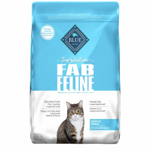 Blue Buffalo True Solutions Fab Feline Chicken Natural Indoor Adult Dry Cat Food Perspective: front