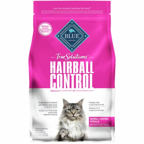 Blue Buffalo True Solutions Hairball Control Natural Food for Adult Cats Perspective: front