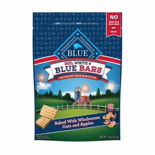 BLUE RWB Bars Dog Biscuit Perspective: front