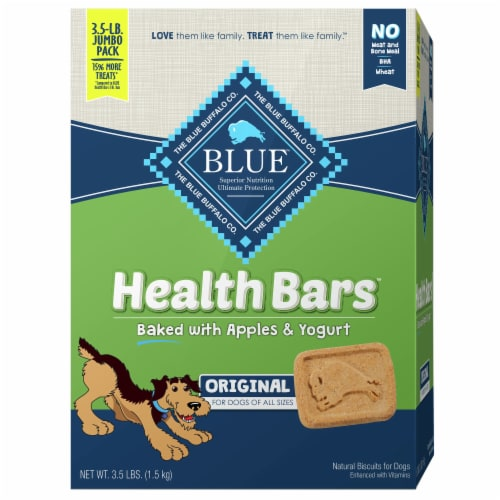 Blue Buffalo Health Bars Apples & Yogurt Dog Treats Perspective: front