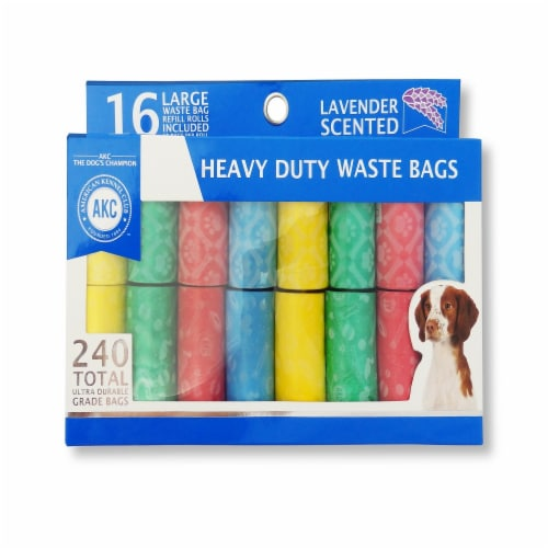 American Kennel Club Lavender Scented Heavy Duty Waste Bags Perspective: front