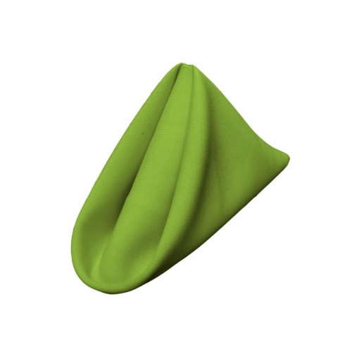 LA Linen 1818Pop-pk10-LimeP84 Polyester Poplin Napkin, Lime - 18 x 18 in. - Pack of 10 Perspective: front
