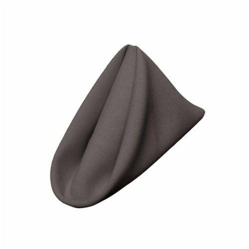 LA Linen 1818Pop-pk10-CharcoalP34 Polyester Poplin Napkin, Charcoal - 18 x 18 in. -Pack of 10 Perspective: front