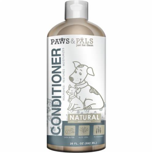 Paws & Pals PTNC-01-20 20 oz Natural Conditioner Perspective: front